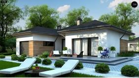 Проект Z401 Проект комфортного одноэтажного дома в европейском стиле.  Проекты домов и гаражей