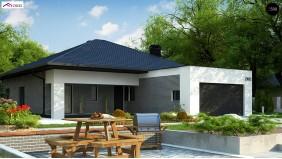 Проект Z403 Одноэтажный дом с четырьмя спальнями и гаражом на два автомобиля  Проекты домов и гаражей