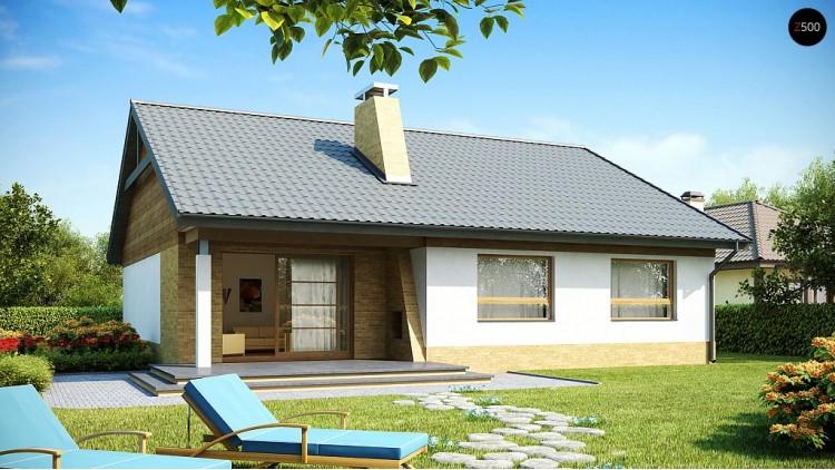 Проект выгодного небольшого одноэтажный дом с тремя спальнями - Z41