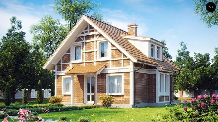Проект компактного и функционального дома с кабинетом на первом этаже - Z44