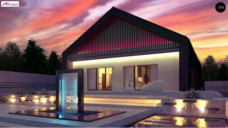 Проект Z446 Современный одноэтажный дом с грамотной удобной планировкой  Проекты домов и гаражей