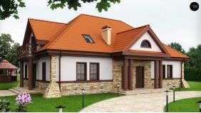 Проект дома на две семьи в стиле дворянской усадьбы - Z46