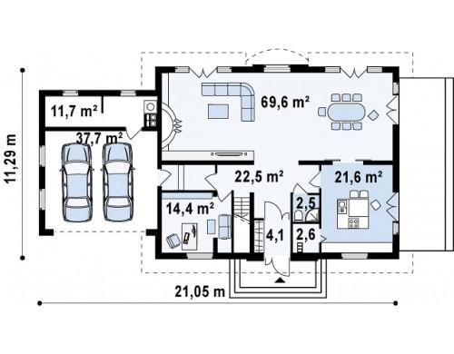 Проект Z50 A Проект дома Z50 в современной интерпретации.  Проекты домов и гаражей