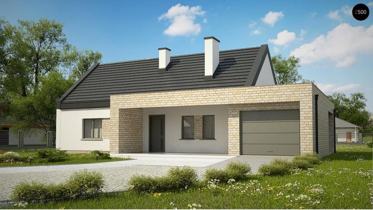 Проект Z53 A Компактный одноэтажный коттедж современного дизайна  Проекты домов и гаражей
