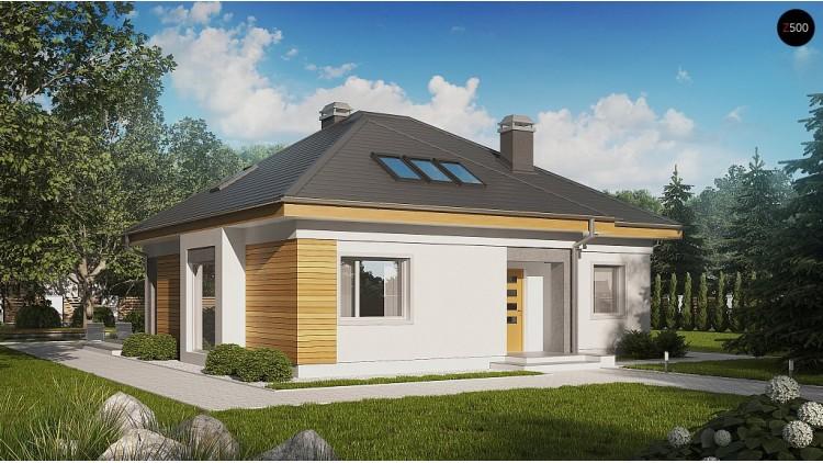 Проект дом с двумя дополнительными комнатами на первом этаже - Z54
