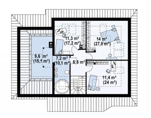 Проект Z56 A Современная версия проекта Z56.  Проекты домов и гаражей
