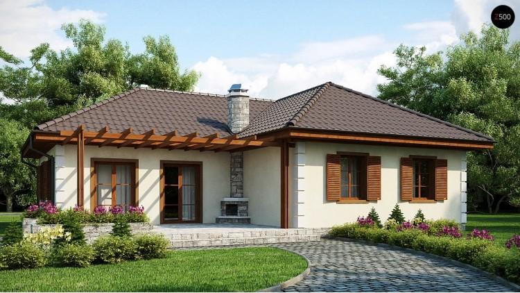 Проект одноэтажного дома с мансардой. Добротный практичный одноэтажный дом - Z6