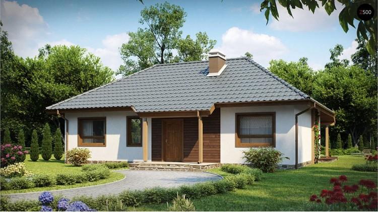 Проект Z69 dk Проект одноэтажного классического дома адаптированного для каркасной технологии строительства.  Проекты домов и гаражей