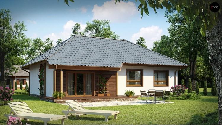 Проект практичного одноэтажного дома в традиционном стиле - Z69