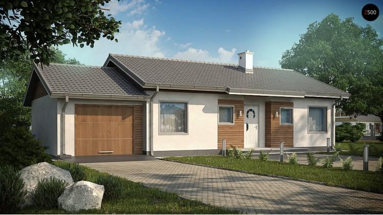 Проект Z7 L GL Проект Z7 с гаражом с левой стороны и измененной планировкой.  Проекты домов и гаражей