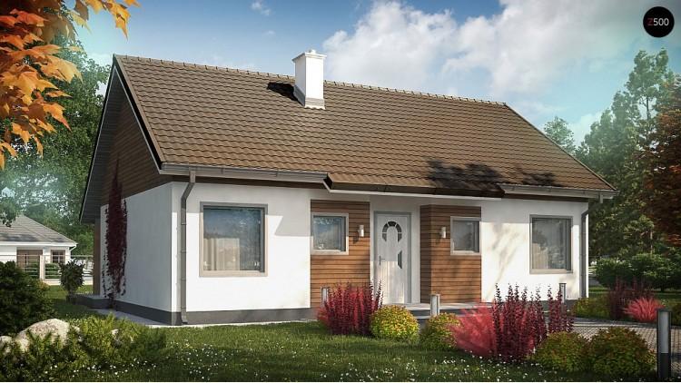 Проект Z7 35 Версия проекта Z7 с углом наклона крыши 35 градусов.  Проекты домов и гаражей