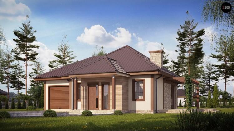 Проект Z73 L GL Зеркальная версия проекта Z73 с гаражом с левой стороны дома  Проекты домов и гаражей