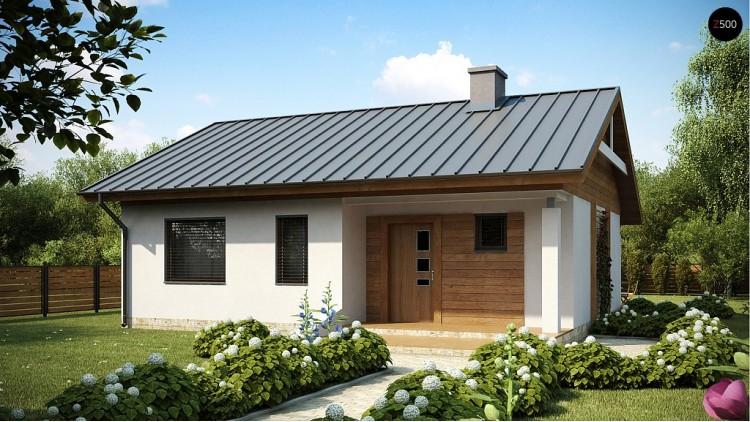 Проект одноэтажного дома простой конструкции с кухней со стороны сада - Z78