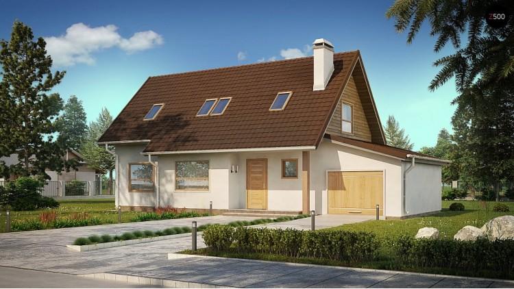 Проект дома Z79 с гаражом с правой стороны.