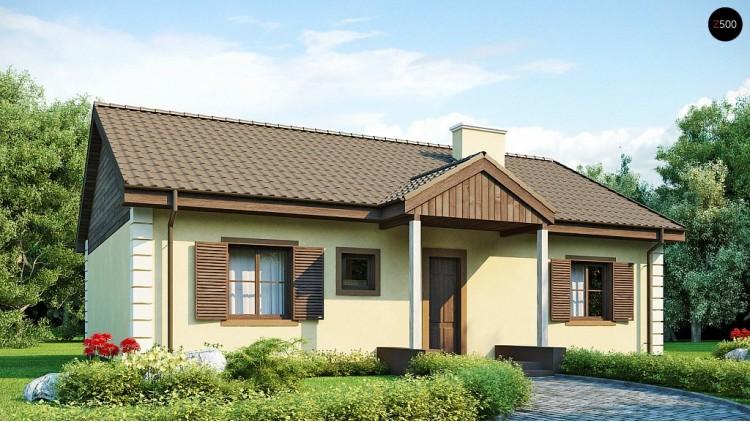 Проект дома 100 м2 одноэтажный. Выгодный и простой в строительстве дом полезной площадью 100 м2 - Z8