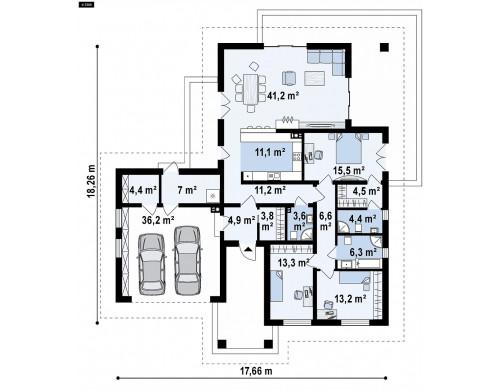 Проект Z80 A Подвариант проекта Z80 c измененной функциональной планировкой  Проекты домов и гаражей