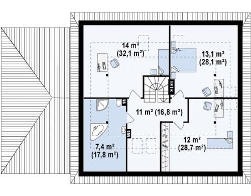 Проект Z84 GL Современный дом с гаражом  Проекты домов и гаражей