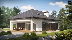 Проект Z85 C Версия проекта Z85 с современным оформлением фасадов.  Проекты домов и гаражей