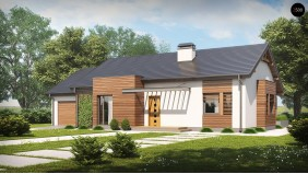 Проект Z93 GL Вариант проекта Z93 с гаражом на одну машину  Проекты домов и гаражей