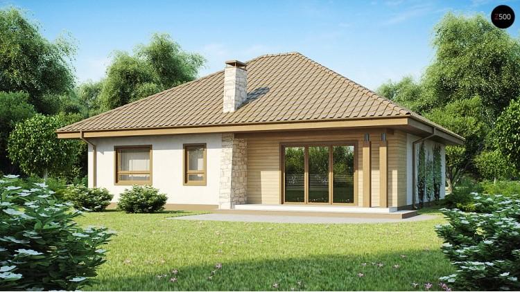 Проект одноэтажного дома с большим гаражом, просторной гостиной и двумя спальнями - Z94
