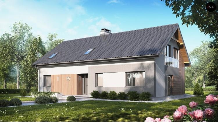 Проект Z97 Проект двухсемейного дома с отдельной удобной «квартирой» площадью 58 м2.  Проекты домов и гаражей