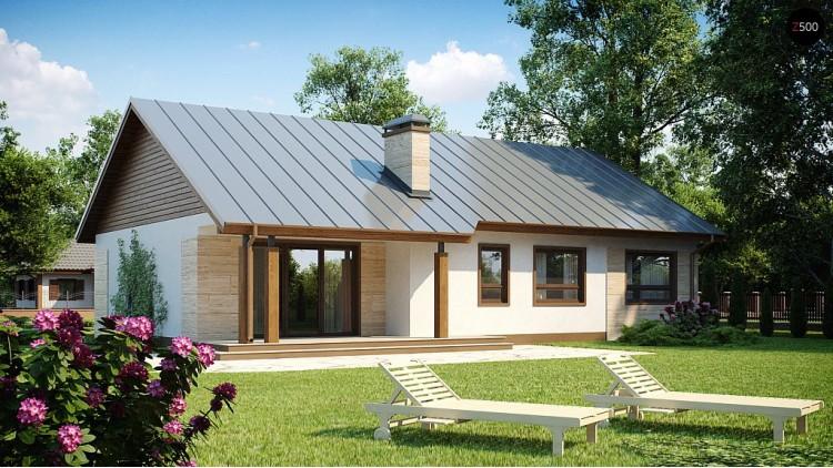 Проект одноэтажного дома с возможностью адаптации чердачного помещения - Z98