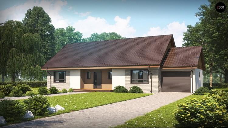 Проект Z98 L GP Зеркальное отображение проекта Z98 с гаражом с правой стороны  Проекты домов и гаражей