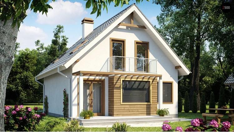 Проект Z99 dk Просторный дом в традиционном стиле с эркером, выполнен под каркасную технологию.  Проекты домов и гаражей