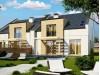 Проект Zb13 Проект домов для симметричной застройки стильного современного дизайна.  Проекты домов и гаражей