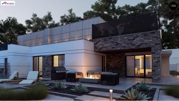 Проект Zb22 Современный большой дом с плоской крышей  Проекты домов и гаражей