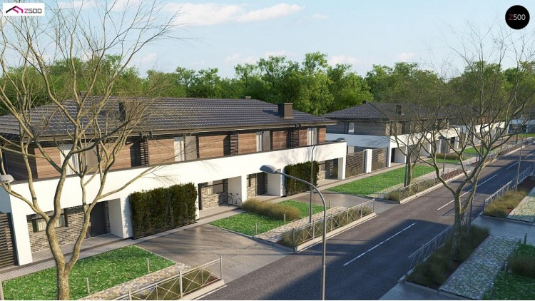 Проект Zb23 Двухэтажный комфортный дом для двух семей  Проекты домов и гаражей