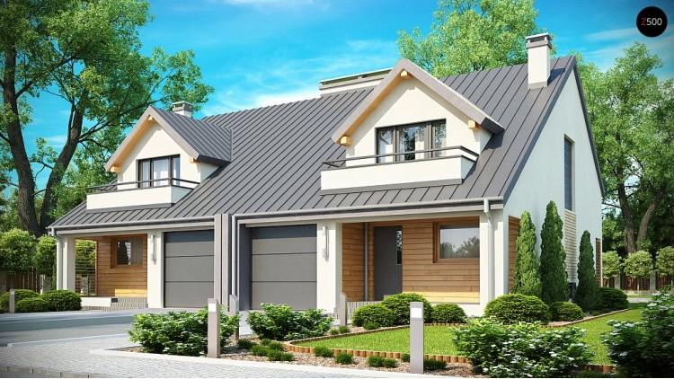 Проект стильного, функционального и недорогого двухсемейного дома - ZB4