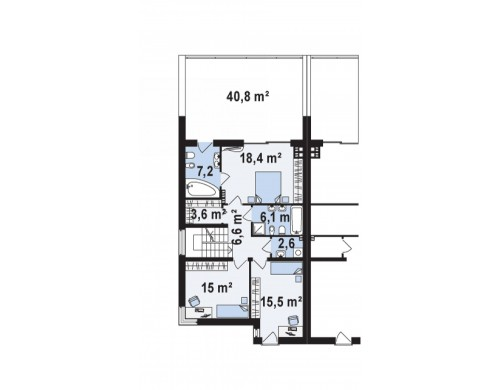 Проект дома для симметричной застройки с гаражом оригинального современного дизайна - ZB8
