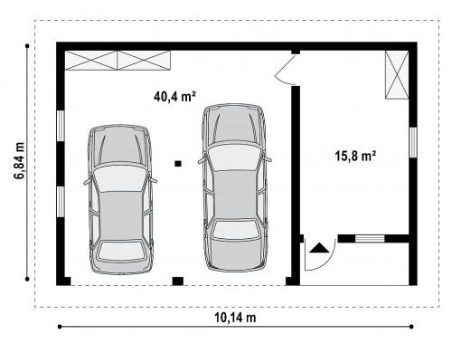 Проект Zg1 Проект гаража на две машины для коттеджа в классическом стиле  Проекты домов и гаражей