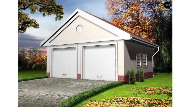 Проект гаража с 2 воротами классического дизайна