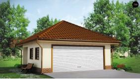 Проект Zg15 Современный проект просторного гаража для двух авто  Проекты домов и гаражей