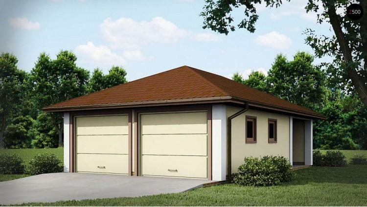 Проект Zg19 Проект гаража для двух автомобилей для дома в классическом стиле  Проекты домов и гаражей