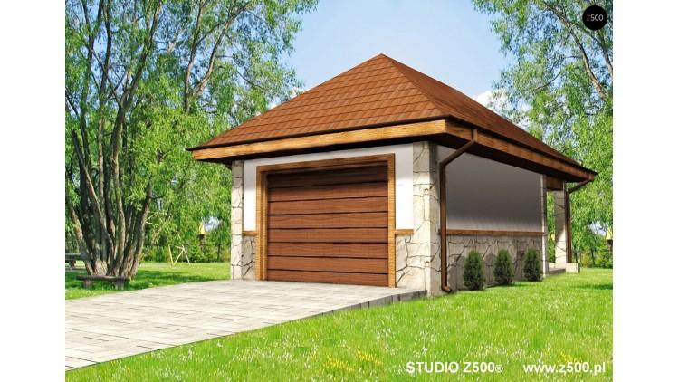 Проект Zg7 Аккуратный гараж в традиционном стиле на 1 машину  Проекты домов и гаражей