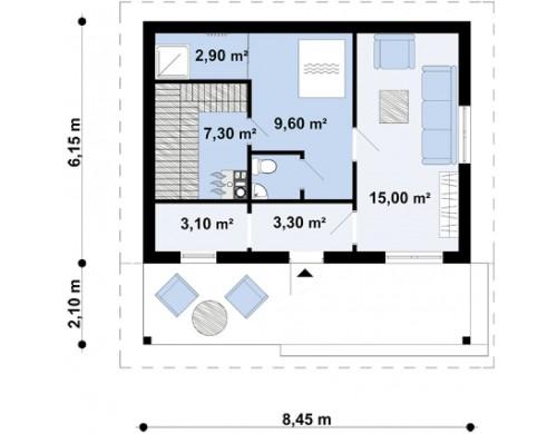 Проект Zp1  Проекты домов и гаражей
