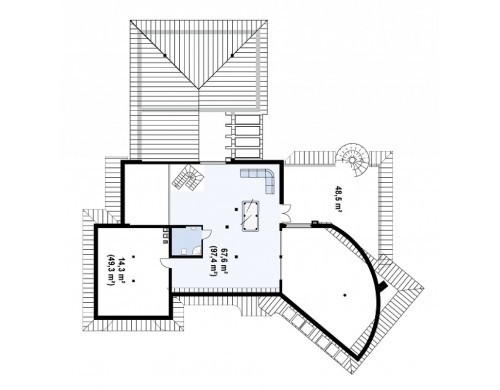 Проект добротного особняка с богатым интерьером - ZR1