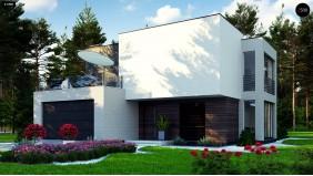 Проект Zr17 A Двухэтажный дом в стиле минимализм - вариант проекта ZR 17  Проекты домов и гаражей