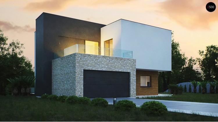 Проект Zr17 Трехэтажная современная резиденция с террасами и бассейном .  Проекты домов и гаражей