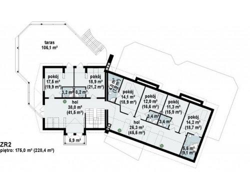 Проект гостиницы загородного типа небольшого размера - ZR2