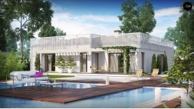 Изящный современный дом с многоскатной крышей вместо плоской - ZX100 V1