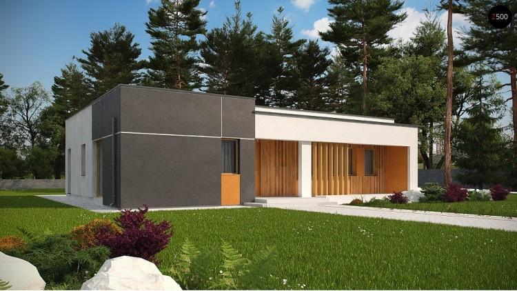 Проект Zx102 bG Версия проекта Zx102 без гаражного помещения.  Проекты домов и гаражей