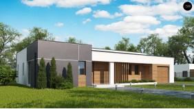 Проект Zx102 GP Вариант проекта Zx102 с гаражом на одну машину.  Проекты домов и гаражей