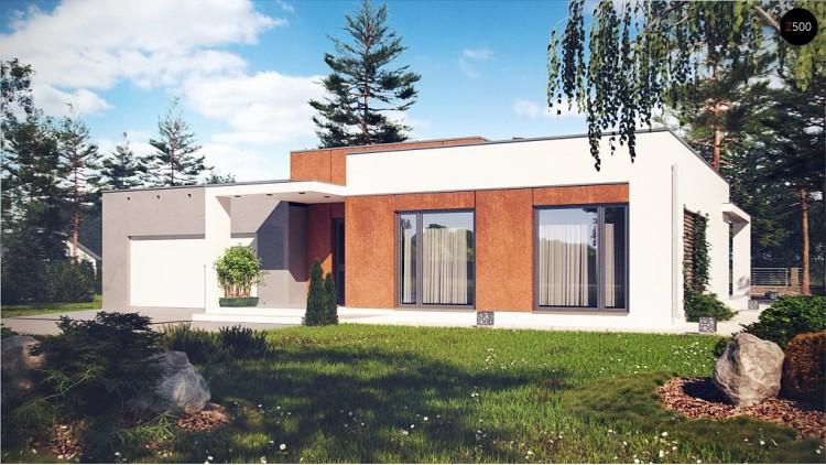 Проект комфортного дома со светлым и уютным интерьером - ZX104