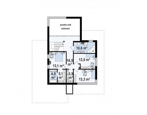Проект Zx108 Современный двухэтажный дом с большой площадью остекления.  Проекты домов и гаражей