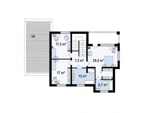 Проект дома с сауной в традиционном стиле