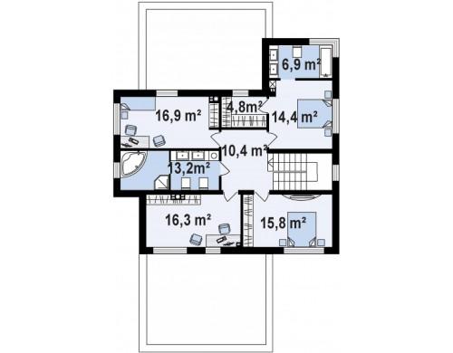 Zx112 — это современный комфортный двухэтажный дом с баней.